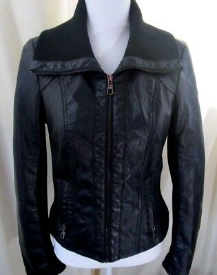 Lane Crawford Women's Zip up Jacket Faux Leather Size Small