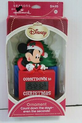 Countdown To Christmas Clock.New Hallmark Mickey Mouse Countdown To Christmas Clock Ornament In Box Disney