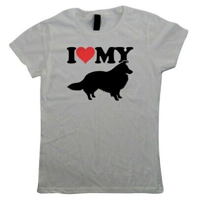 I Love My Sheltie Shetland Sheep Dog Womens T-Shirts - Dogs Gift Her Mum