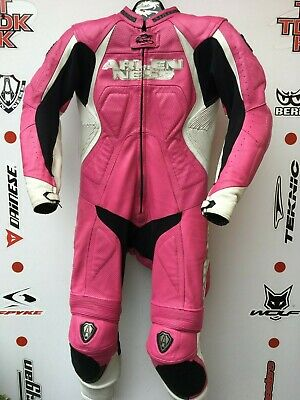 Arlen Ness ladies One Piece race leathers with hump uk 12