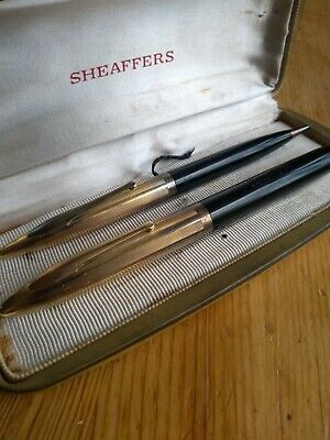 Antique Sheaffer Fountain Pen14k nib(1500, white dot)And Pencil(600)gold filled