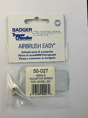 Badger Airbrush Co. 50-027 Needle Adjusting Screw for Model 200  New in Package