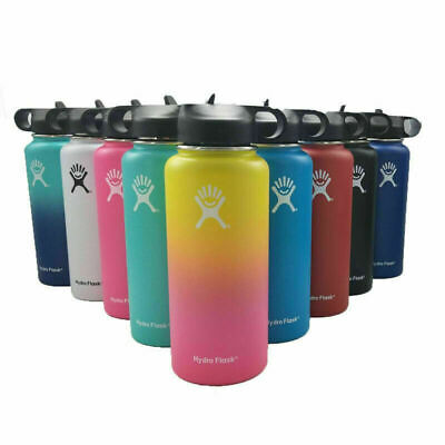 32/40oz Hydro Flask Insulated Watter Bottle Straw Lids Wide Mouth Stainles Steel