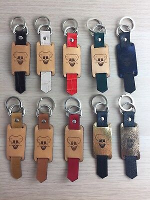 Real Leather Devil's Head Keyring Fob Handmade stock clearance unisex gift