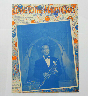 Come to the Mardi Gras New Orleans Henry Busse Sheet Music (1947)