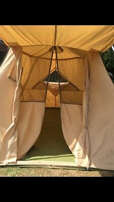 """new concept 6c7e7 a095e EUREKA 6 PERSON Vintage Canvas Tent 9'6"""" X 9'6"""" Used Once !!"""