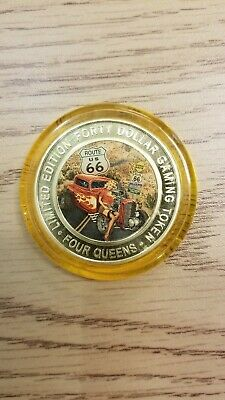 Four queens silver strike $40 .999 fine silver LasVegas route 66 2019 limited ed