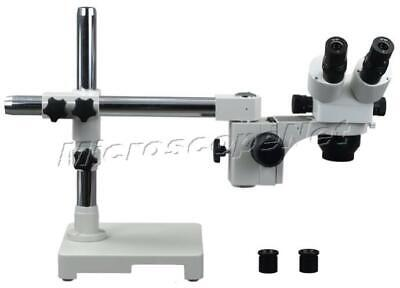 Binocular Stereo ZOOM Microscope 5X-80X w Boom Stand Long wk Distance Large FOV
