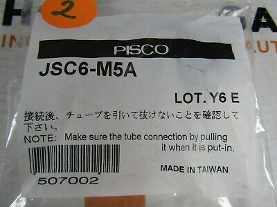 Lot (3) New Pisco Jsc6-M5A Pisco Flow Control 6Mm Tube X M5 Male Meter Out