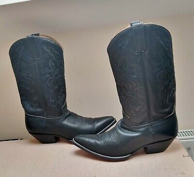 68a04962ccd6e ⭐⭐⭐⭐⭐ RUDEL LEATHER Cowboy Mexican Rodeo Boots Mens Size UK 10 Black Coool!