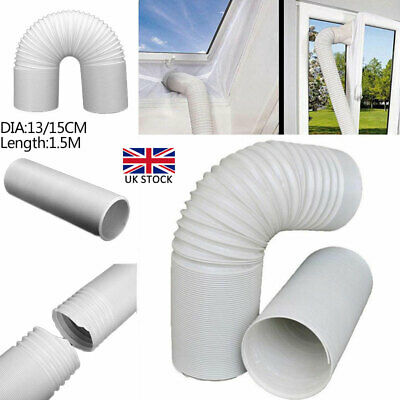 "5"" Width ExtrLong Universal Pipe Air Conditioner Exhaust Hose PVC Duct Extension"