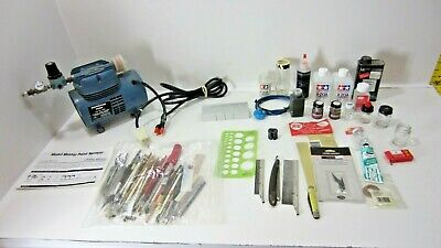 Model Painting Diaphragm Pump w/Assorted Accessories, Supplies Lot