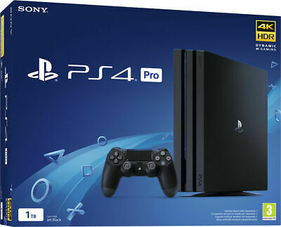 Sony Playstation PS4 Console 1TB PRO GAMMA Black 4K HDR + PS Live Card 20€