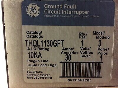 THQL1130GFT GE General Electric 1Pole 30Amp Circuit Breaker NEW!!