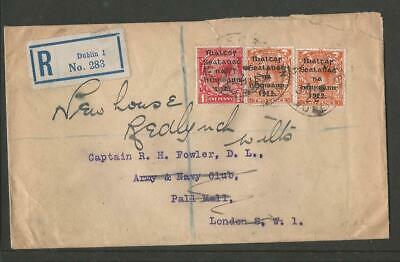 Ireland 1922 Overprint Registered Dublin Cover To London Redirected