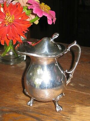 Vintage Wilcox International Silverplate Individual Syrup or Chocolate Pitcher