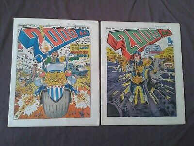 2000AD x5 Progs, (61,62,67,68,69), April to June 1978.