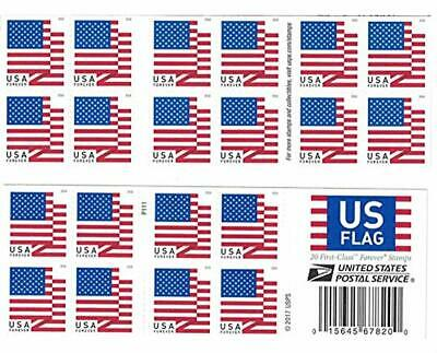 US Flag 2018 Forever First Class Postage Stamps Double Sided Booklet 20 Piece