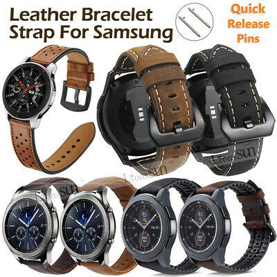 20/22MM Various Leather Bracelet Strap Band For Samsung Galaxy Watch 46mm/42mm