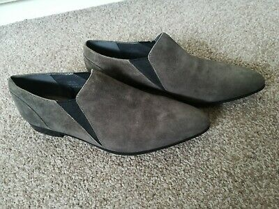 Grey Pointed Suede Shoes From Marks And Spencer - Size 6