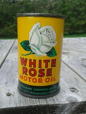 Vintage White Rose Motor Oil Coin Bank