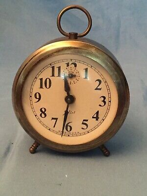 Vintage ROBERTSHAW LUX TIME Juliet  wind up alarm clock  LEBANON,TN USA  AS IS