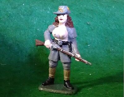 CUSTOM FIGURE, LADY, OFFICIAL WOMEN CONFEDERATED NUDE TITS - PAINTED 58 mm