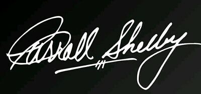Carrol Shelby Autograph Signature Vinyl Decal Sticker - Shelby GT350 GT500 Cobra