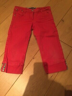 Mini Boden Girls Cropped Trousers 8 Years