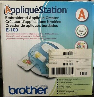 Brother Applique Station E100 Computerized Sewing Embroidery Creator Sealed