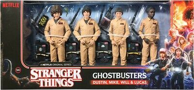 "STRANGER THINGS - Ghostbusters 7"" Deluxe Action Figure 4-Pack (McFarlane) #NEW"