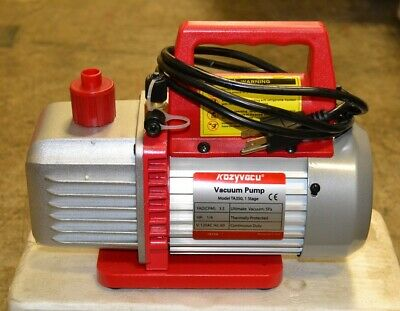 Single-Stage Rotary Vane Vacuum Pump for HVAC/Auto AC Refrigerant Recharging