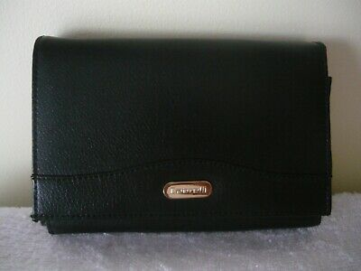 Cabrelli - Black Leather Tri-Fold Wallet - As New