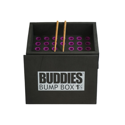 Buddies Bump Box CONE Filler Loads 34 Pre-Rolled 1 1/4 Size Raw Natural Cones