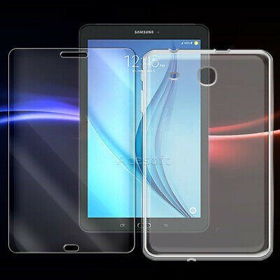 For Samsung Galaxy Tab E 8.0 SM-T377 - Shockproof Screen Protector + Clear Case