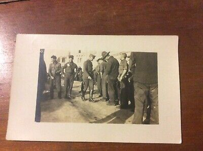 World War I WWI Postcard Real Photo RPPC Soldiers Uniforms