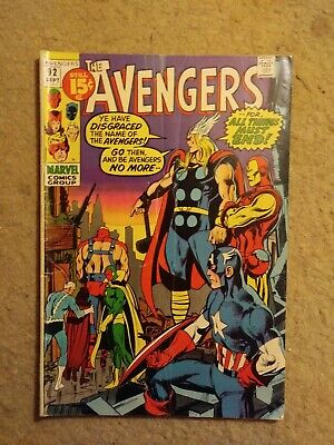 """Vintage 1971 The Avengers #92 """"All Things Must End"""" Marvel Comics NO RESERVE"""