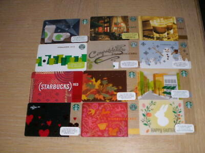 Starbucks U. S. A.   12 different new collectible gift cards