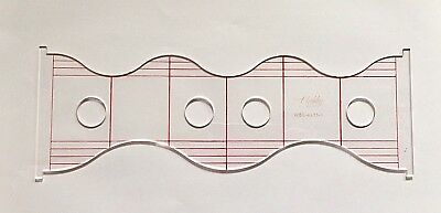 Quilting Ruler Template  Wave & Scallop  WSC-4X13-3  (3mm)
