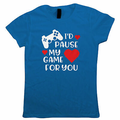 I'd Pause My Game for You - Games Controller and Love Hearts Gift Her