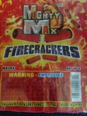 Firecracker  Brick label Vintage Mighty Max Label - Collect Firework Brick