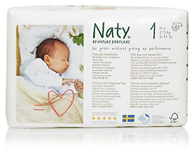 Naty by Nature Babycare Eco-Friendly Premium Disposable Diapers for Sensitive 1,