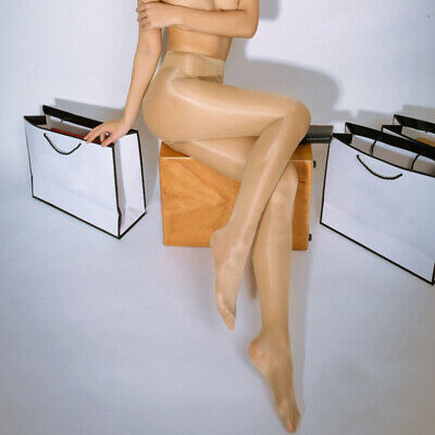 Beige Women Sexy Sheer Oil Shiny Glossy Classic Pantyhose Tights Stocking 13#