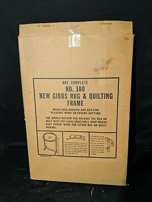 Gibbs No.100 Free Standing Rug and Quilting Frame in Original Box