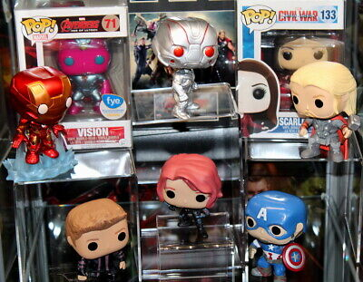 Funko Pop Avengers Age Of Ultron Black Widow Iron Man Scarlet Witch Vision Hawke