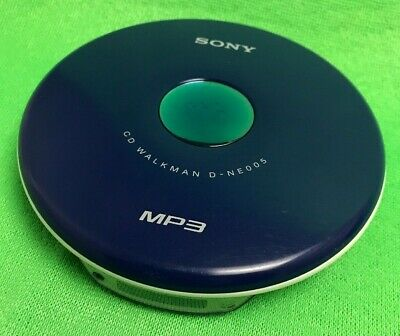 Sony CD Walkman D-NE005 - MP3 CD-R/RW G-Protection Portable CD Player Works Good