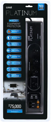 New Crest - PWU04905C - 4 Socket Protector with TV & Data Protection