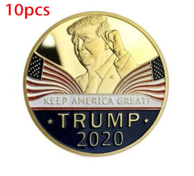 10X Donald Trump 2020 Keep America Great Commemorative Challenge Eagle Coins RF