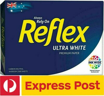 1 x Reflex A4 Ultra White Copy Paper 80gsm 500 Pages Sheets,1 Ream EXPRESS POST