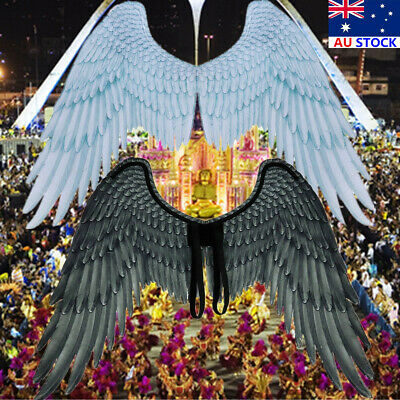 AU Unisex Carnival Party Cosplay Wedding Costume Props Mardi Gras Angel Wings